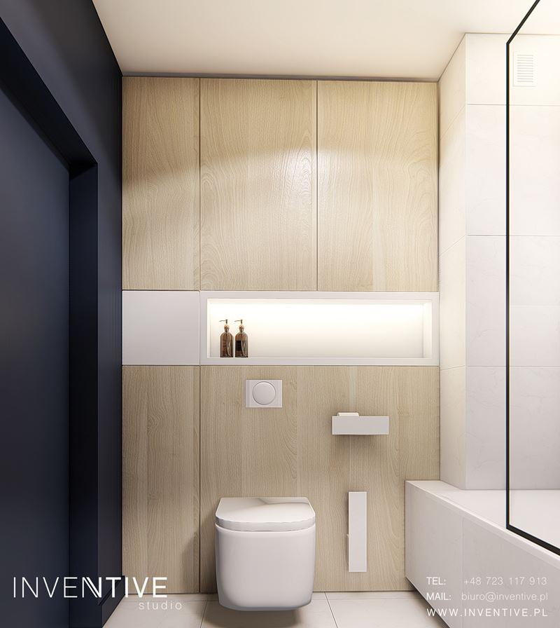 Ściana z drewna w łazience