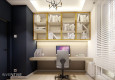 Home office w stylu glamour