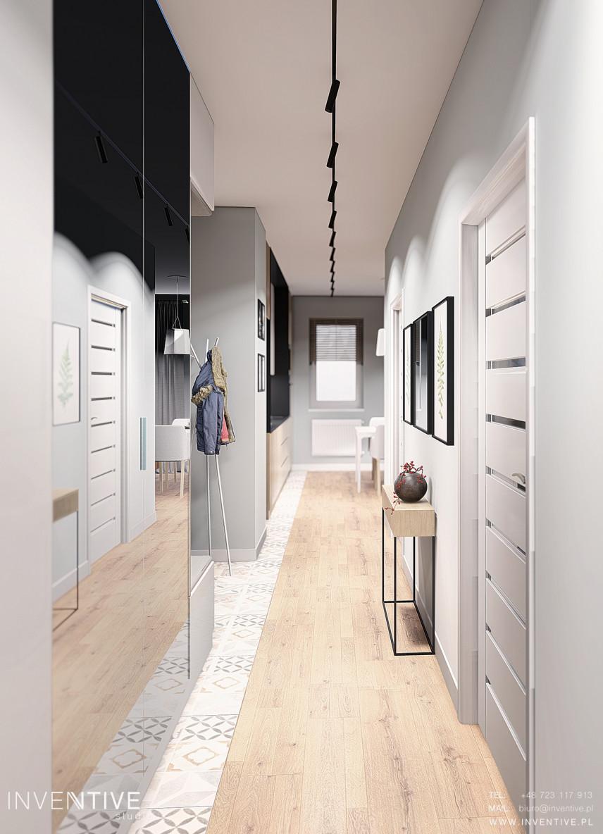 Projekt korytarza w stylu loft