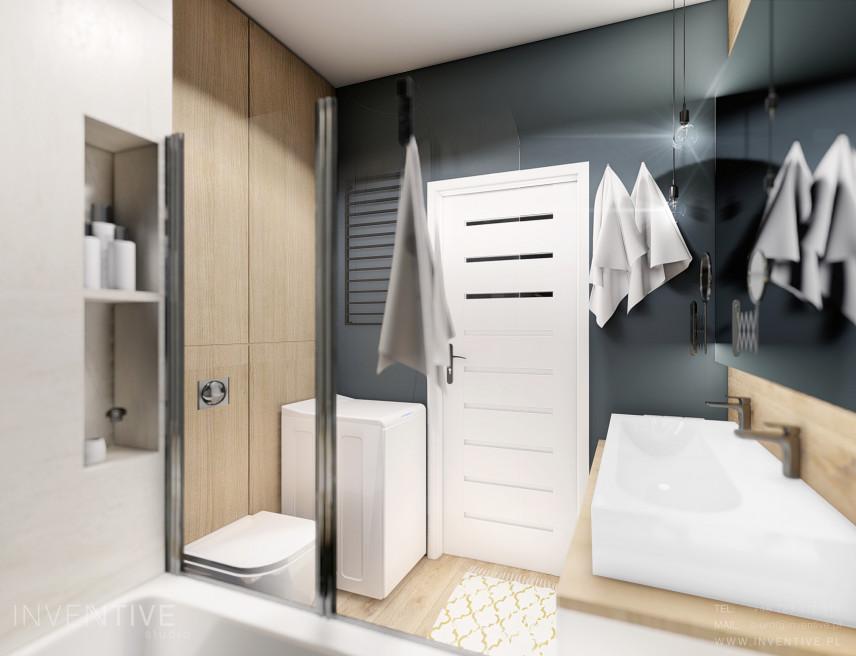 Łazienka z szarymi ścianami