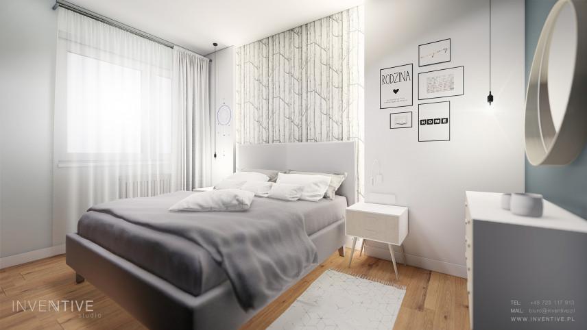 Sypialnia z meblami w stylu skandynawskim