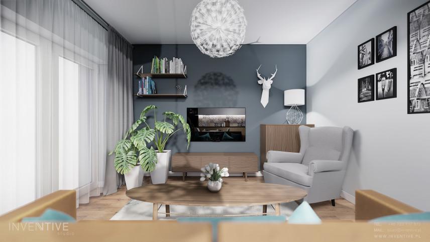 Mały, stylowy salon