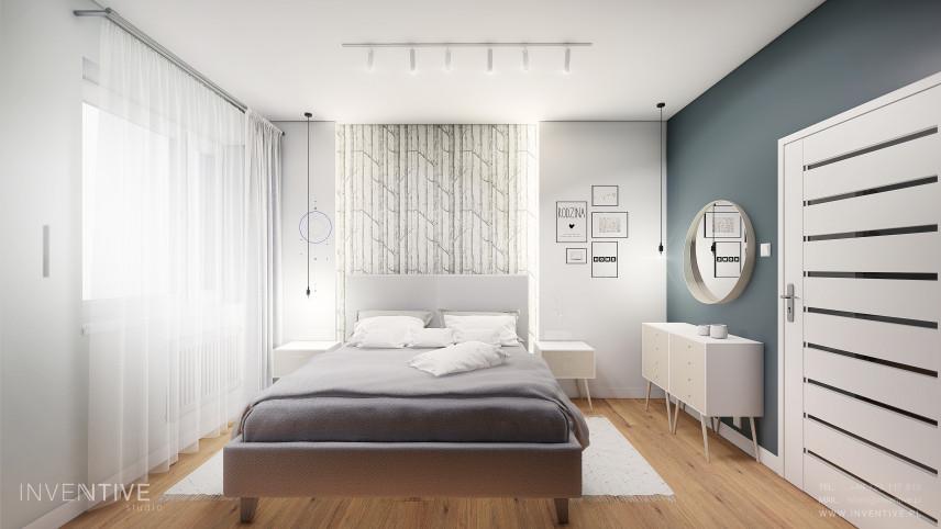 Mała, stylowa sypialnia