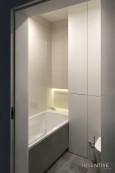 Mała łazienka w muszlą wiszącą