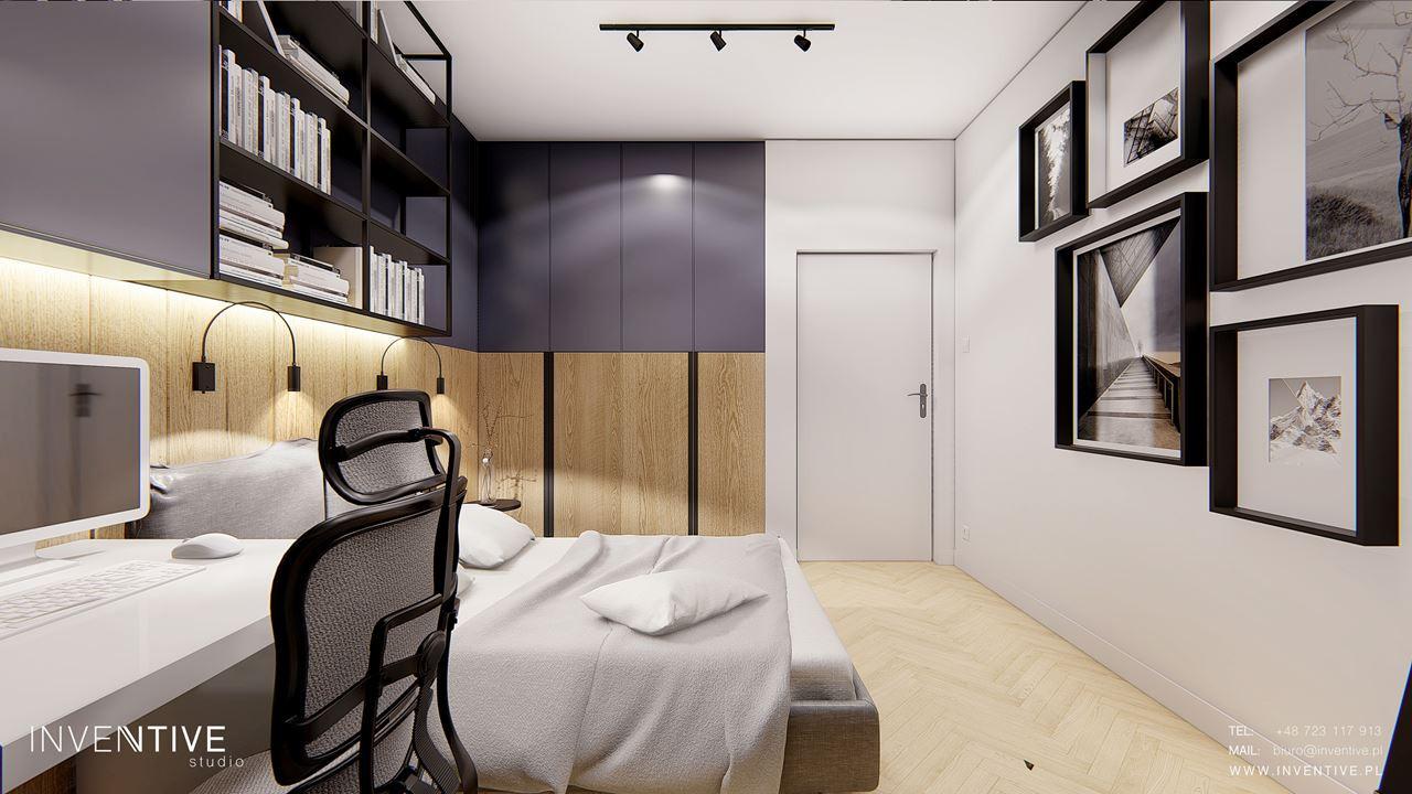 Aranżacja sypialni z obrazami na ścianie