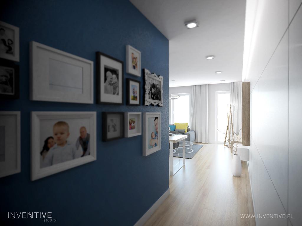 Aranżacja niebieskiego korytarza