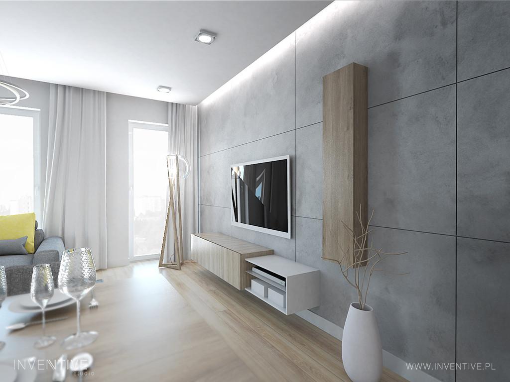Aranżacja salonu z podwieszanym sufitem