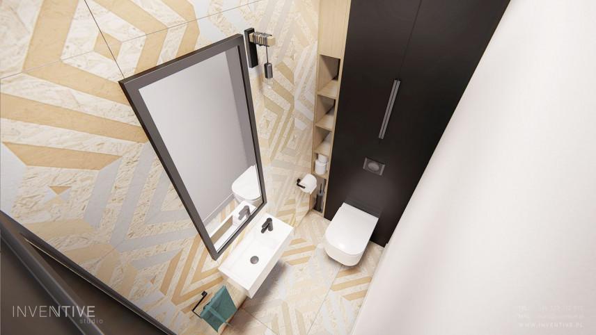 Mała łazienka - widok z góry