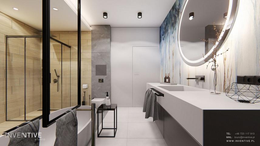 Designerska łazienka z sauną