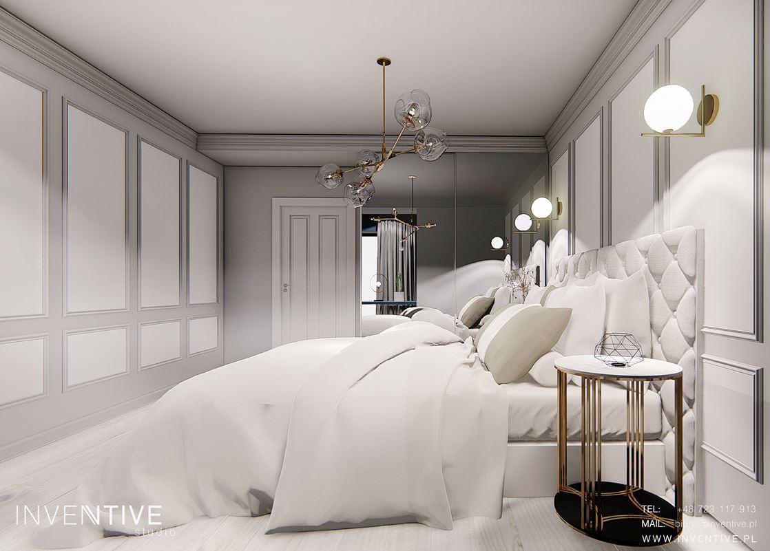 Stylowa sypialnia z elementami Art Deco
