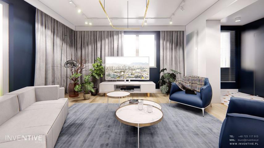 Nowoczesny salon z designerskimi fotelami