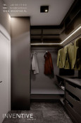 Ciemnoszara garderoba