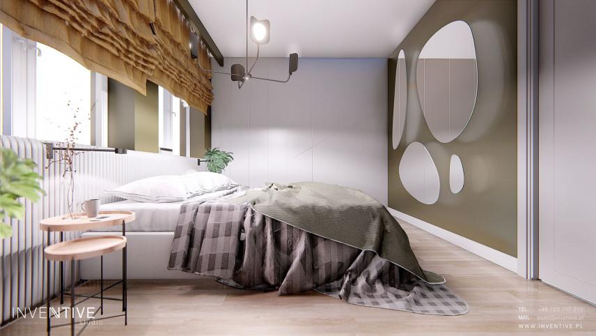 Sypialnia w kolorze złoto-oliwkowym