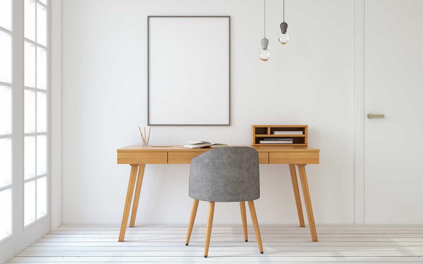 Minimalistyczna przestrzeń biurowa w domu