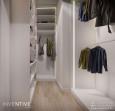 Garderoba z białymi półkami