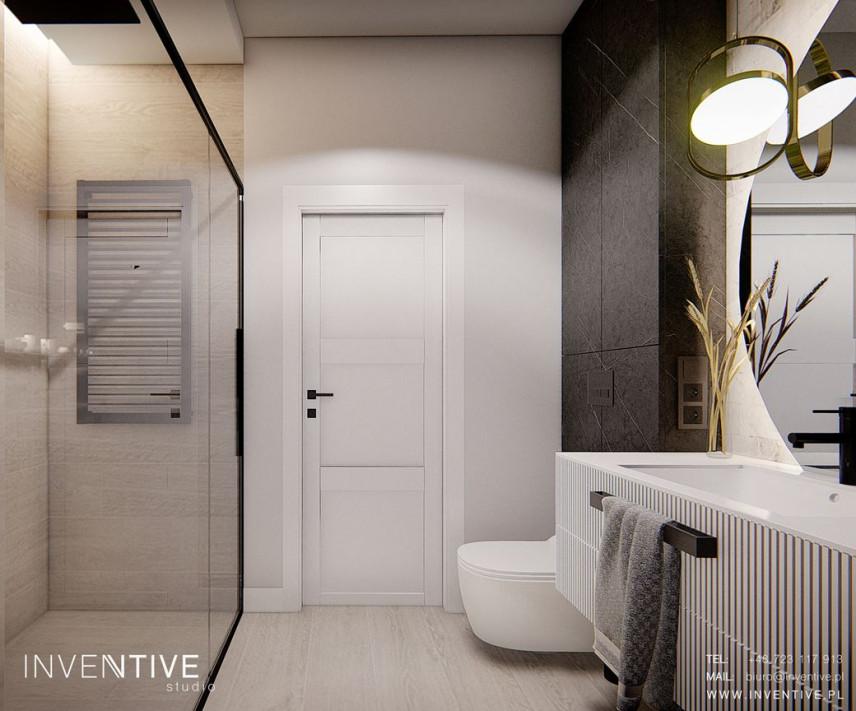 Łazienka w stylu loft z prysznicem