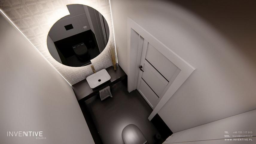 Łazienka rzut z góry w stylu loft