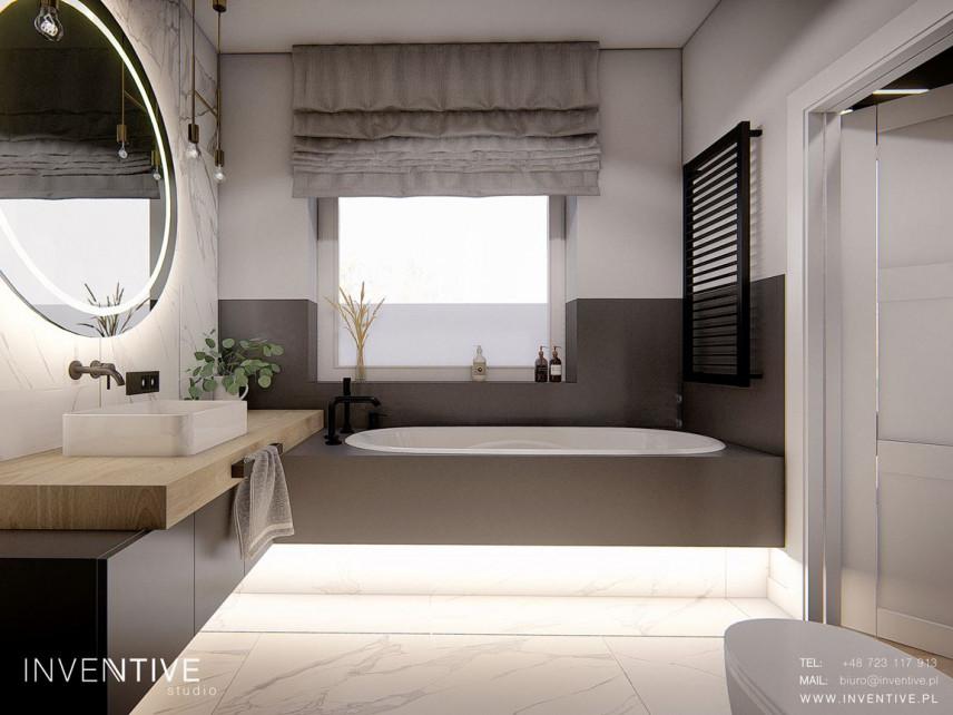 Łazienka z wanną w zabudowie