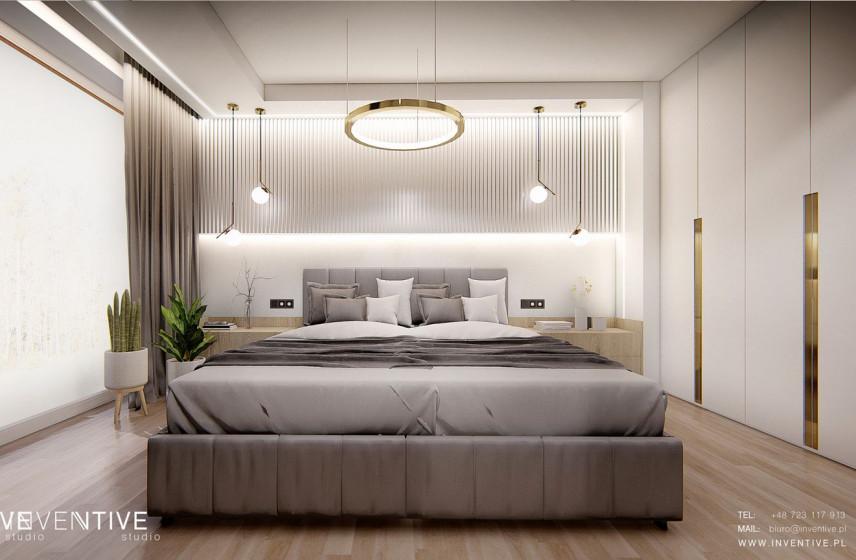 Sypialnia w eleganckim Art Deco