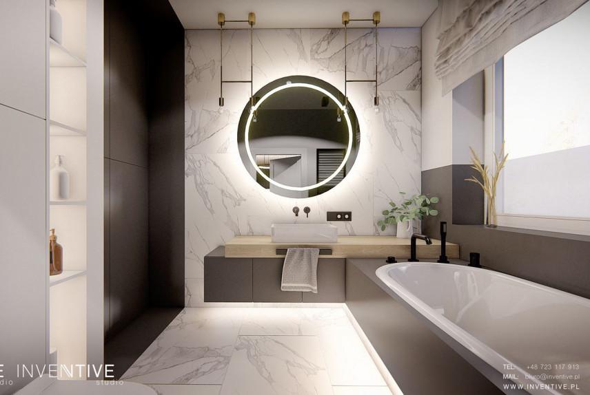 Marmurowa łazienka z wanną