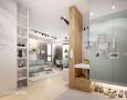 Nowoczesny przedpokój z szafą z lustrzanymi drzwiami