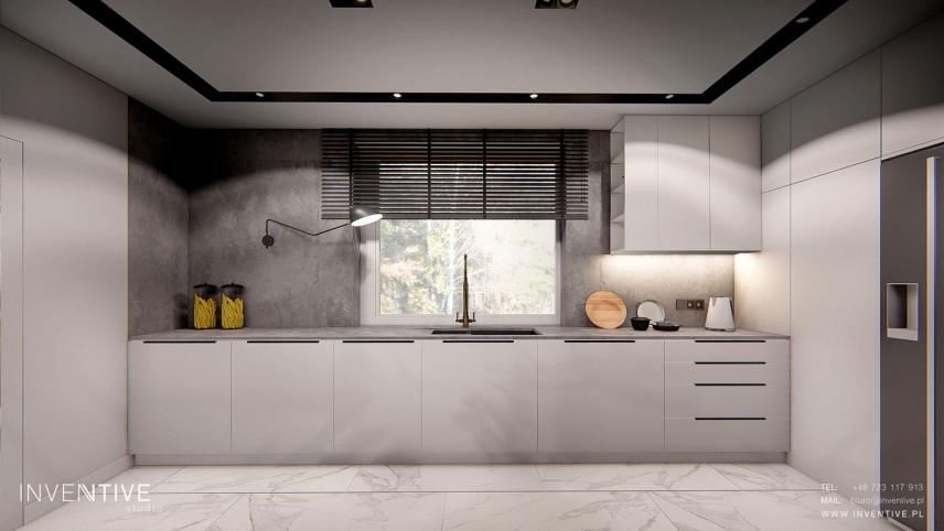 Szara kuchnia w stylu loft