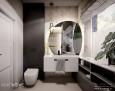 Łazienka z designerskim lustrem