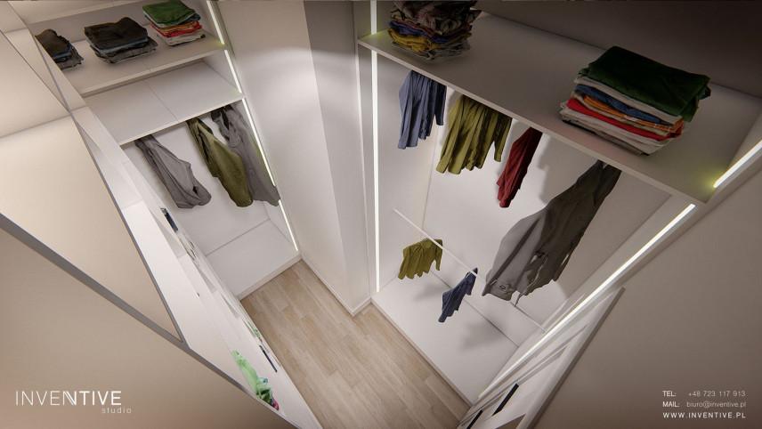 Garderoba - rzut z góry