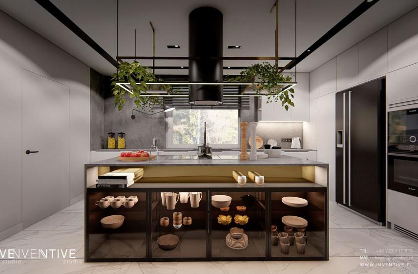 Nowoczesna kuchnia w stylu loft z wyspą