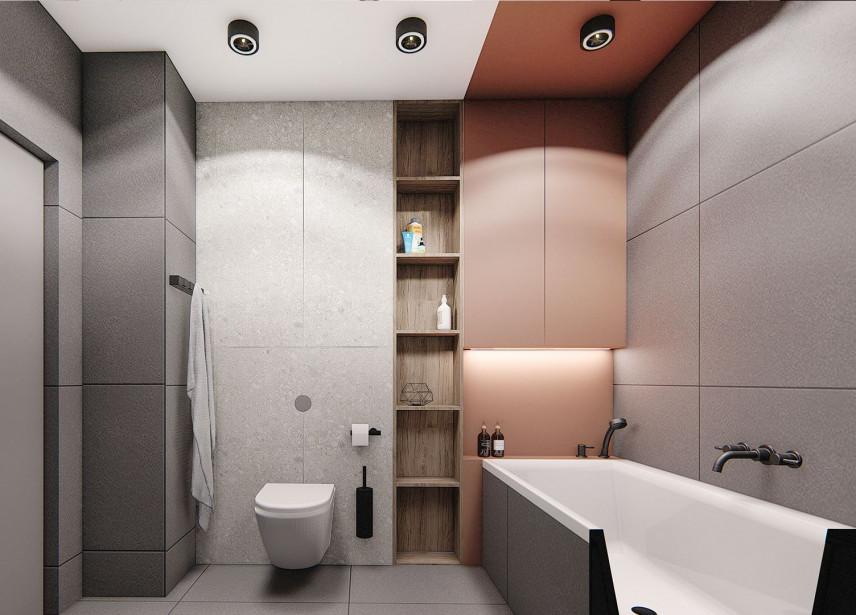 Nowoczesna łazienka z wanną w zabudowie