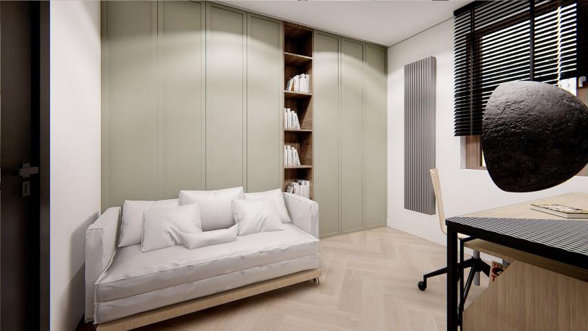 Małe biuro z rozkładaną kanapą