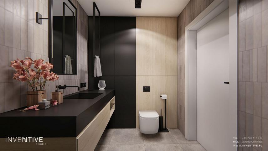 Projekt łazienki z modnym kolorem płytek