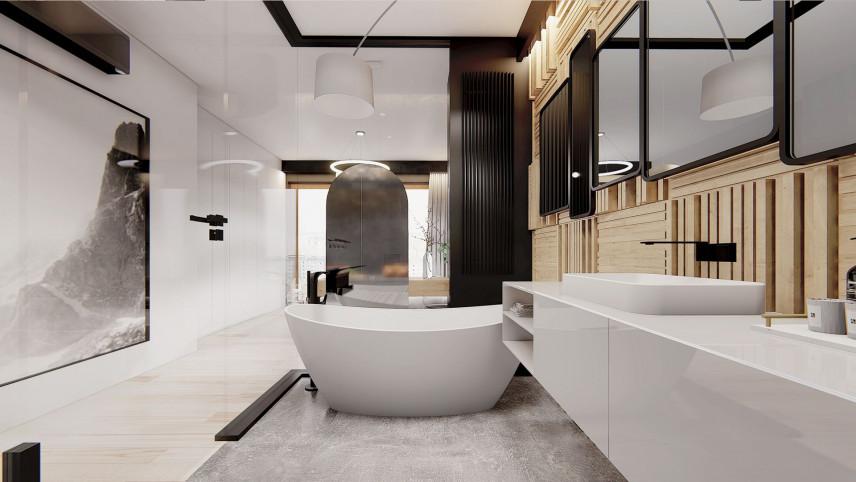 Projekt łazienki z wanna wolnostojącą