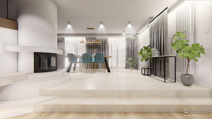 Projekt kuchni z marmurową podłogą