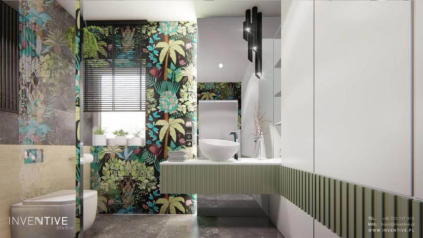 Projekt kolorowej łazienki