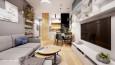 Mały salon  z telewizorem