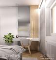 Sypialnia z toaletką w stylu skandynawskim