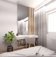 Stylowa sypialnia z designerską toaletką