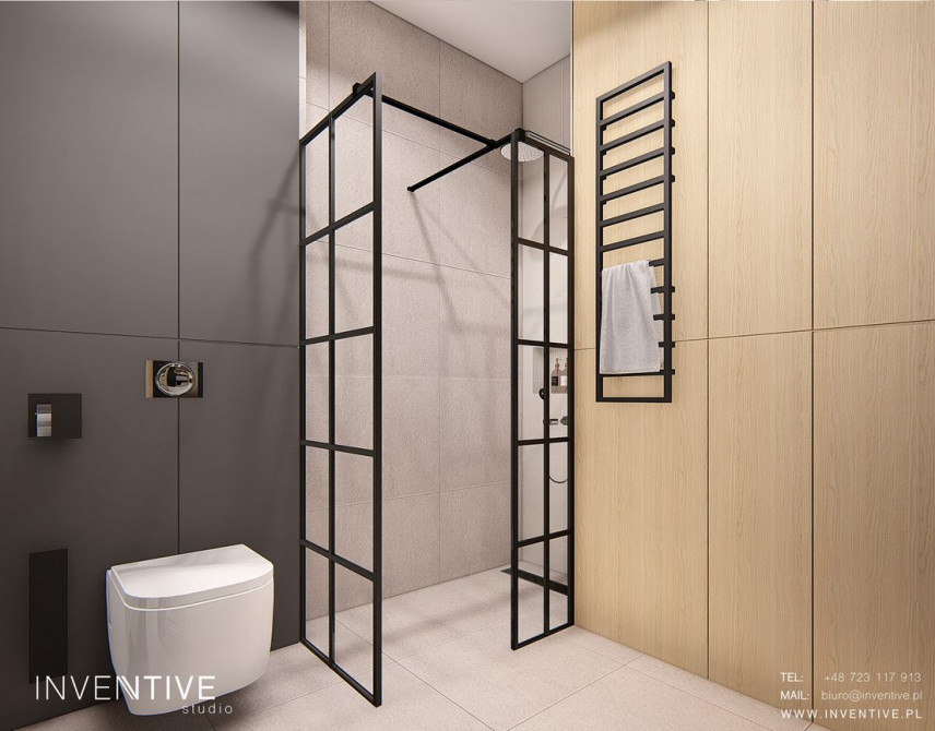 Stylowa łazienka z elementami loft