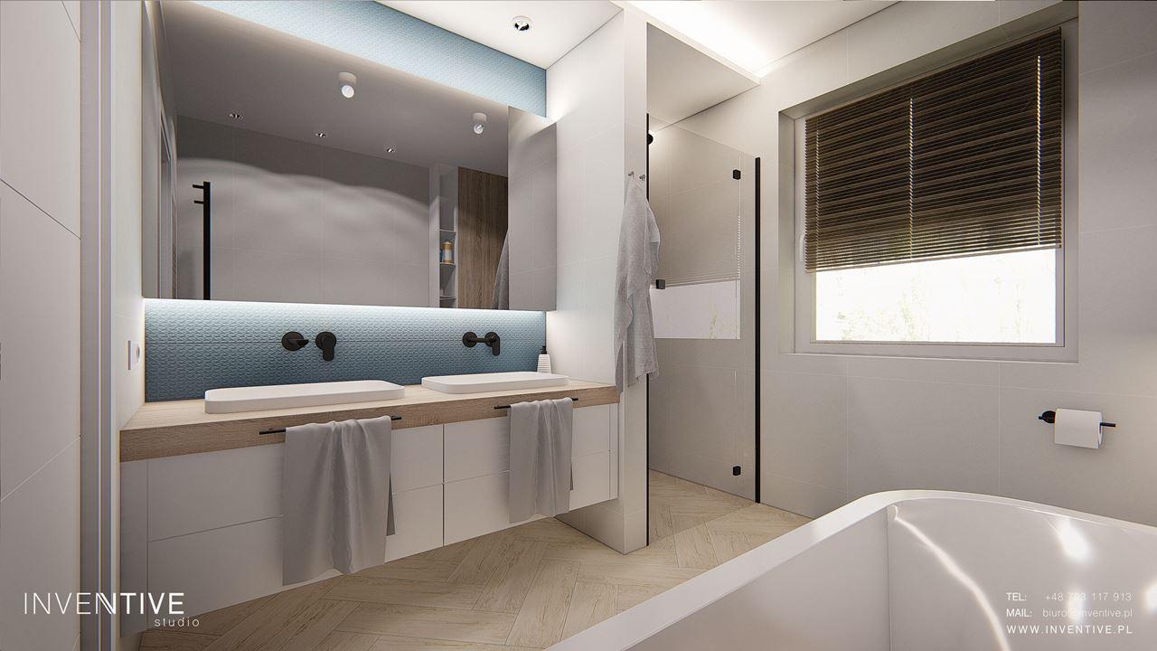 Łazienka z prysznicem i wanną