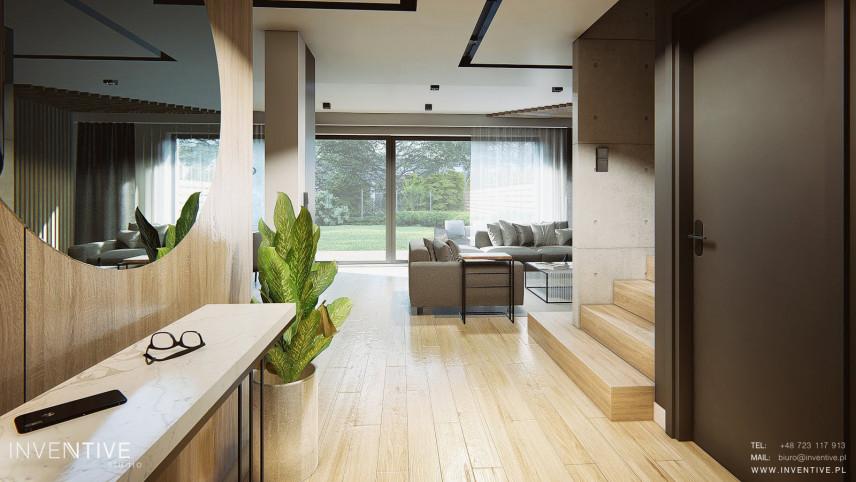 Lustro w przedpokoju w stylu loft