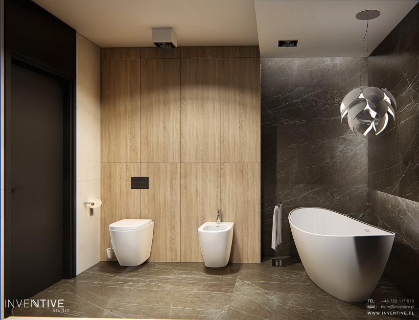 Nowoczesna łazienka z wolnostojącą wanną