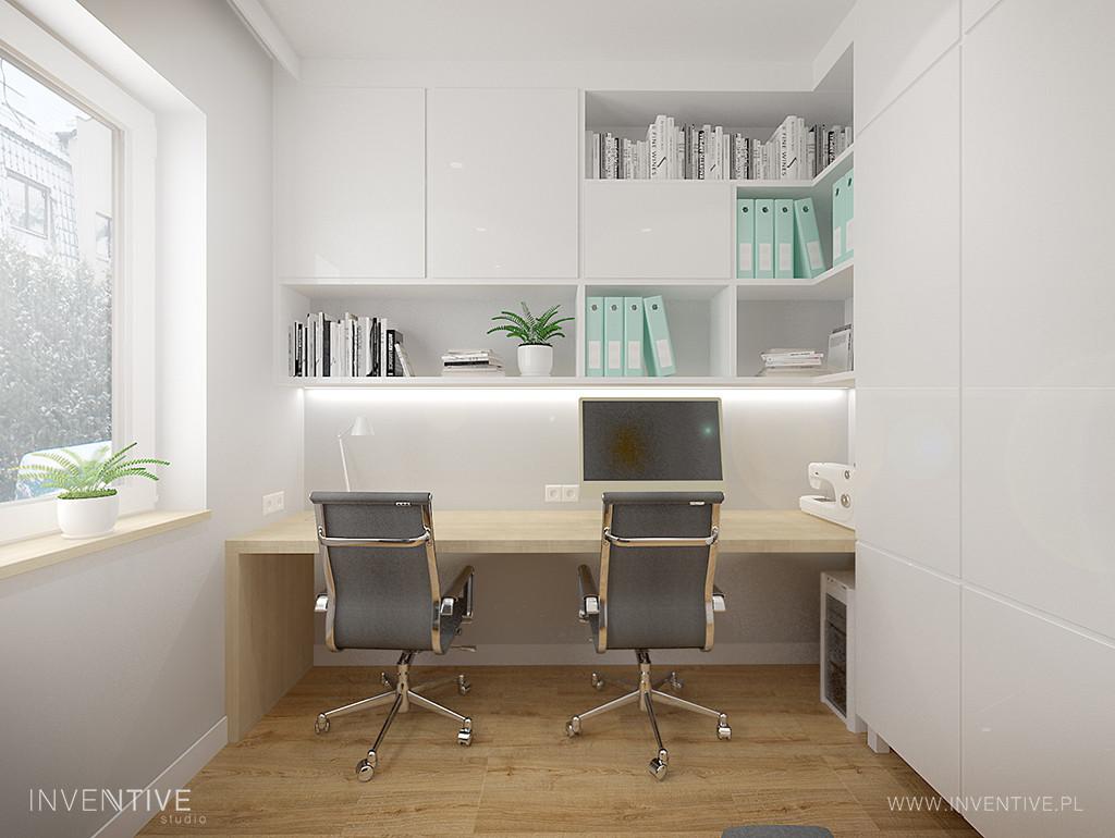 Nowoczesne, białe biuro