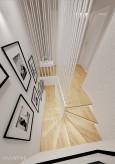 Przedpokój ze schodami i zdjęciami