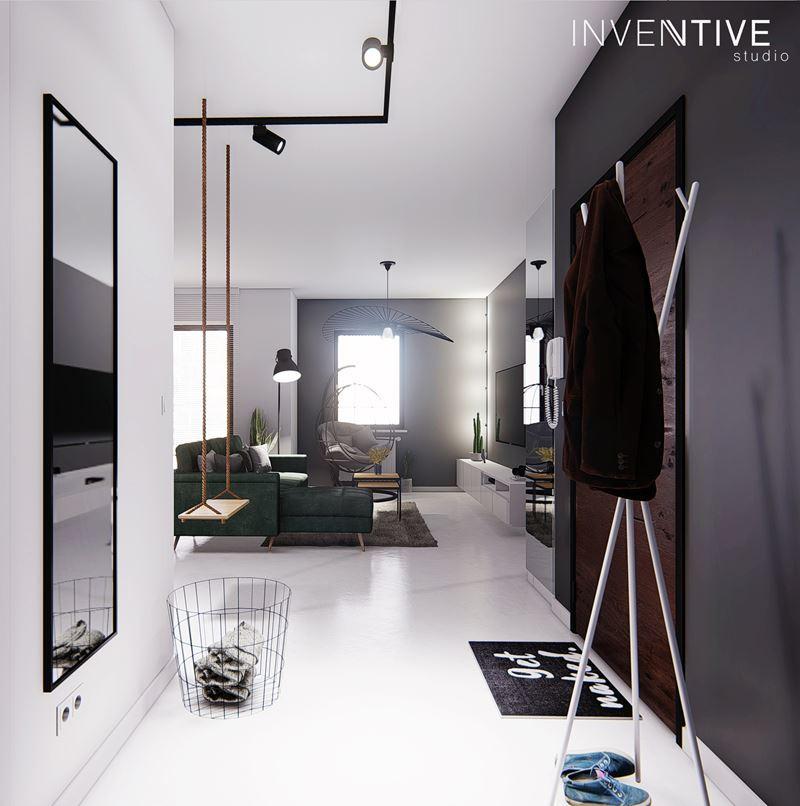 Nowoczesne mieszkanie w stylu loft w jasnych kolorach