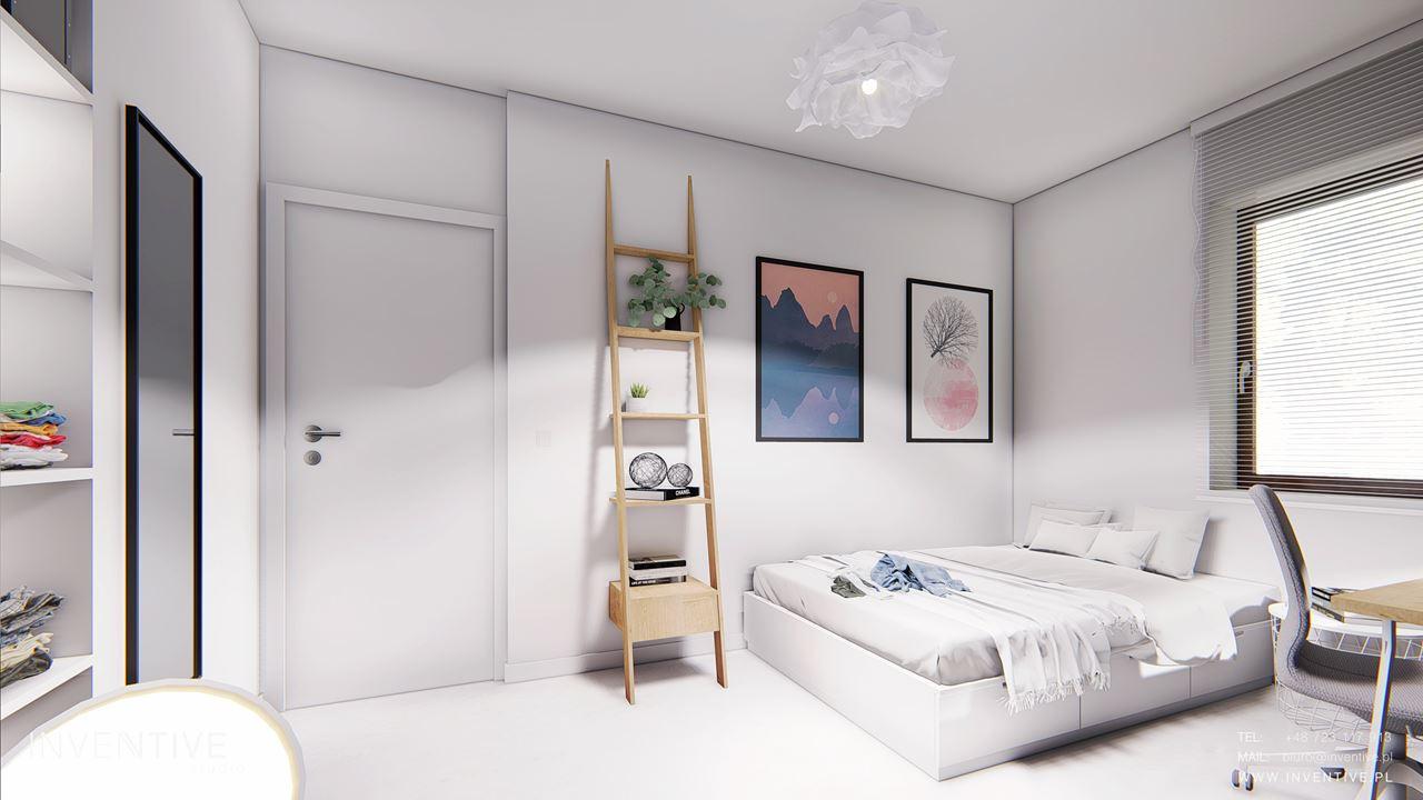 Pokój młodzieżowy z podwójnym łóżkiem