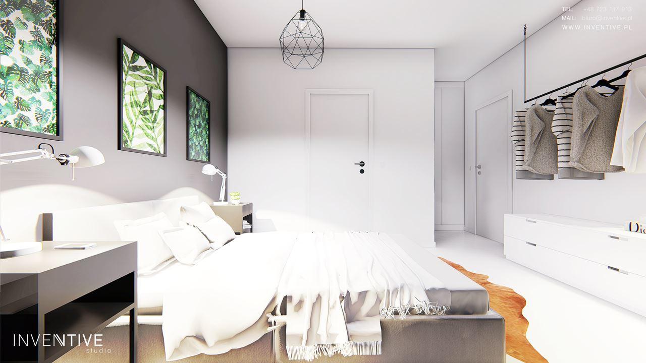 Nowoczesna sypialnia w stylu loft