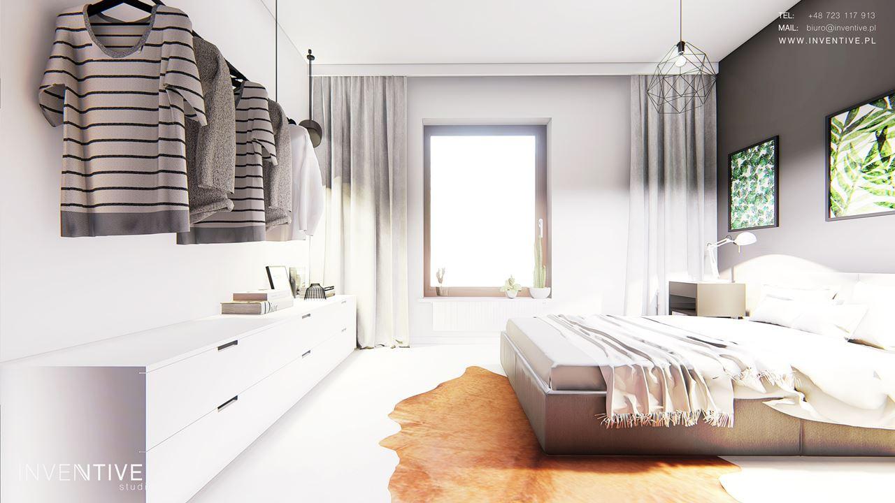 Sypialnia z otwartą garderobą