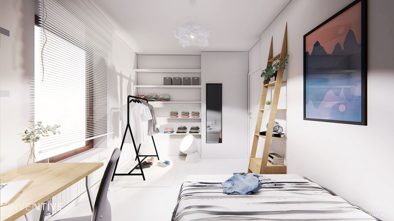 Jasny pokój młodzieżowy
