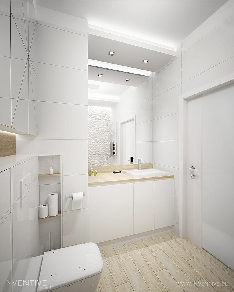 Biała łazienka z wc